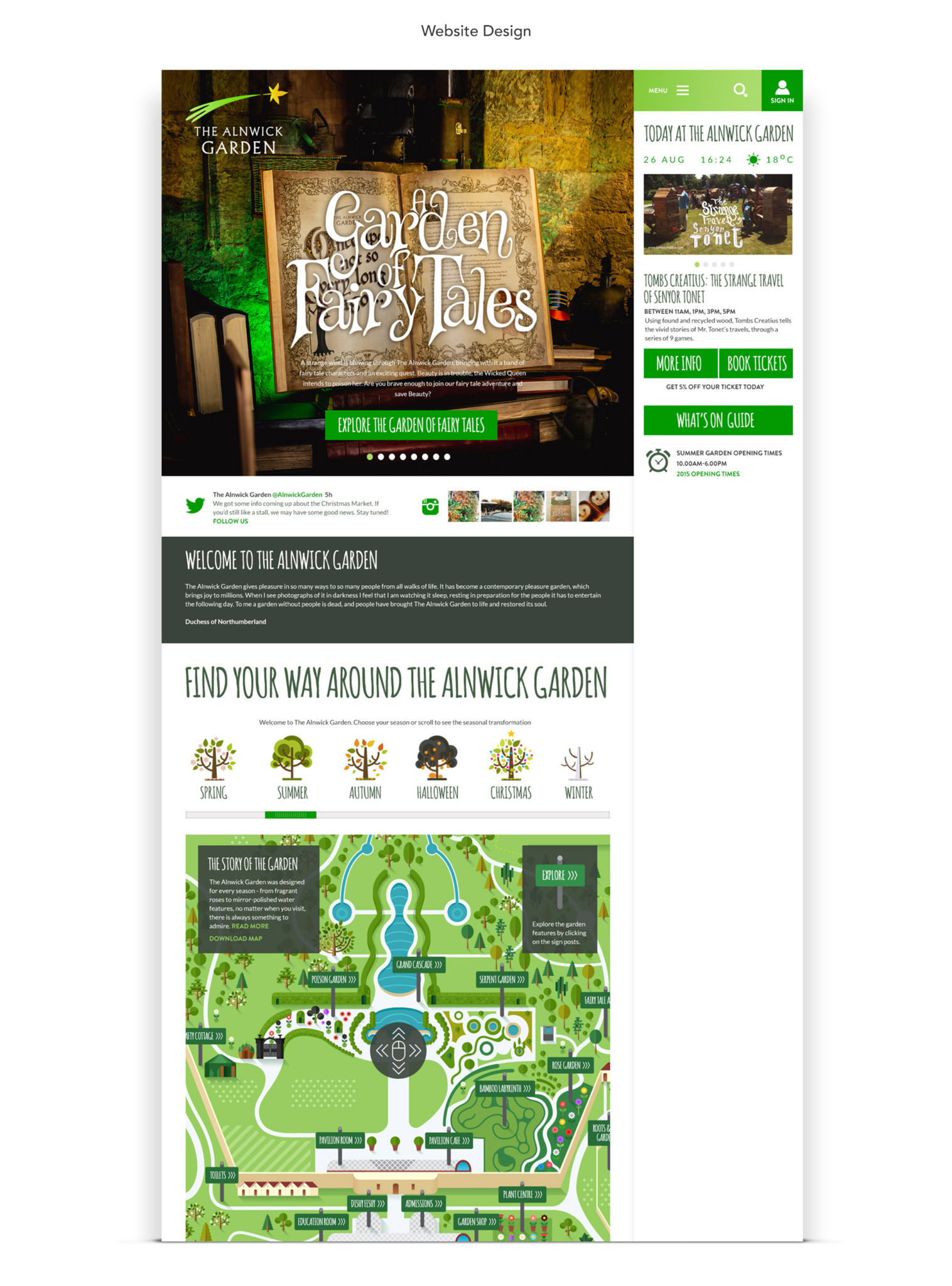 The Alnwick Garden Website